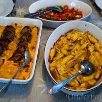 Fläskfilé fylld med salami och Mozzarella
