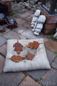 Rostiga-löv-på-betongkudde